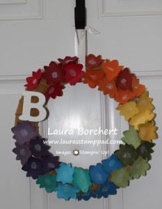 Summer Wreath, www.LaurasStampPad.com