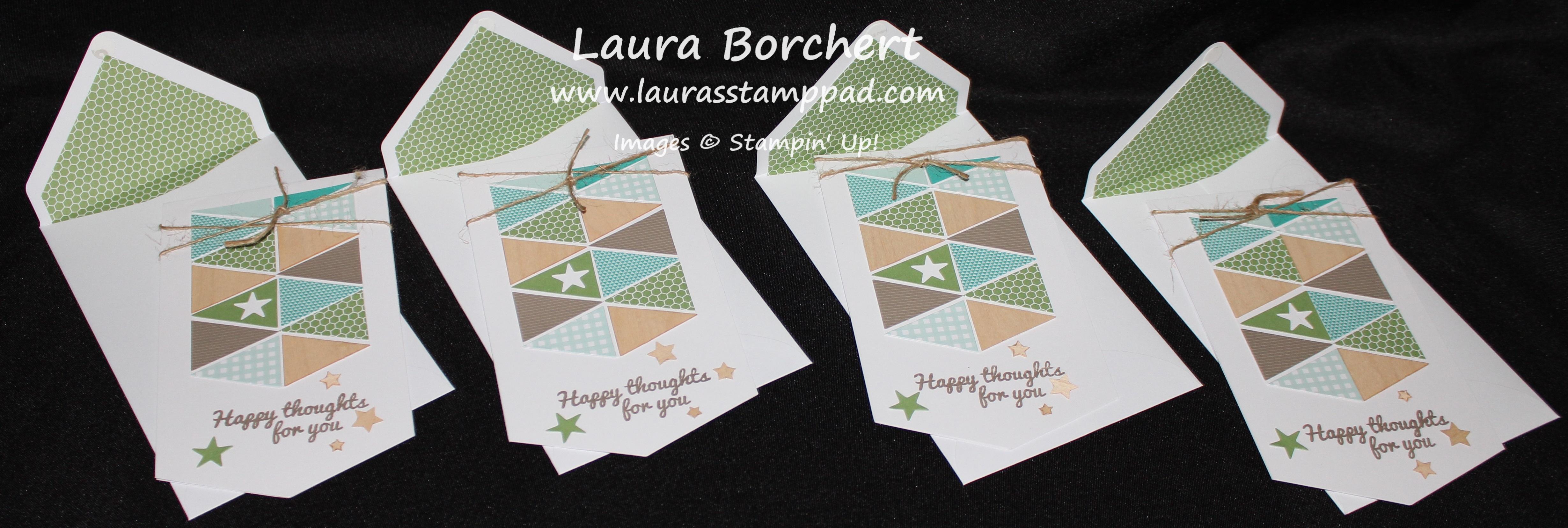 Green Cards, www.LaurasStampPad.com