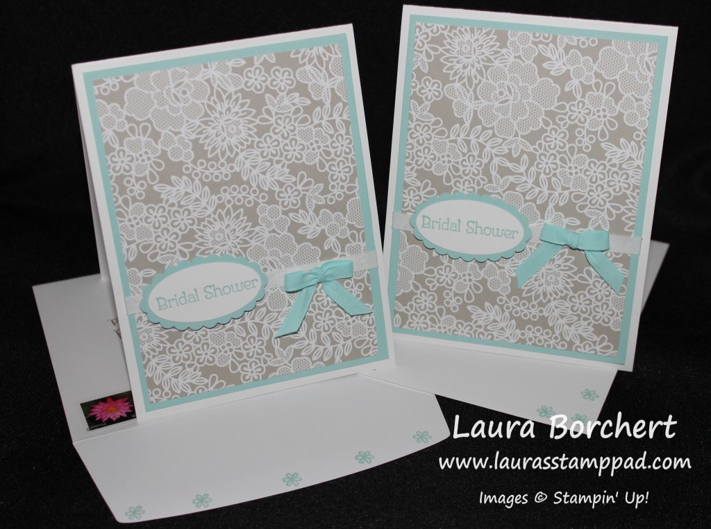 Something Borrowed Bridal Shower Invites, www.LaurasStampPad.com