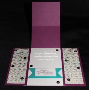 Open Pop Up Card, www.LaurasStampPad.com