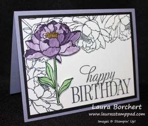 Purple Watercolor Flower, www.LaurasStampPad.com