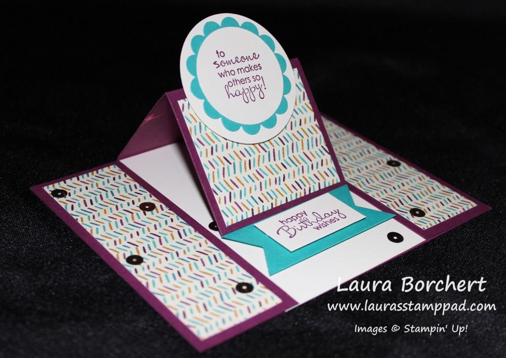 Pop Up Center Easel Card, www.LaurasStampPad.com