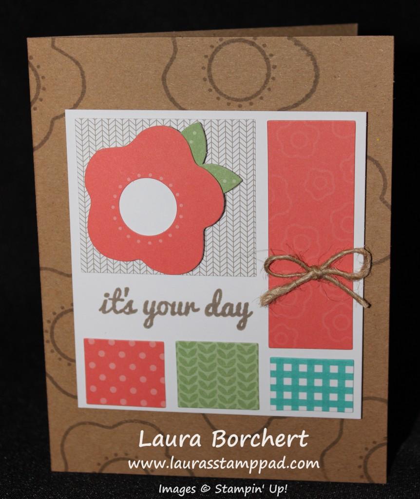 Coral Flower Card, www.LaurasStampPad.com