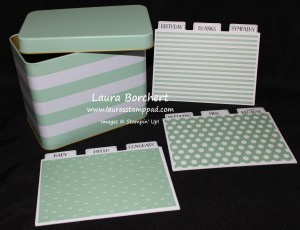 Mint Tin for Cards or Recipes, www.LaurasStampPad.com
