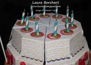Glitter Candles, www.LaurasStampPad.com