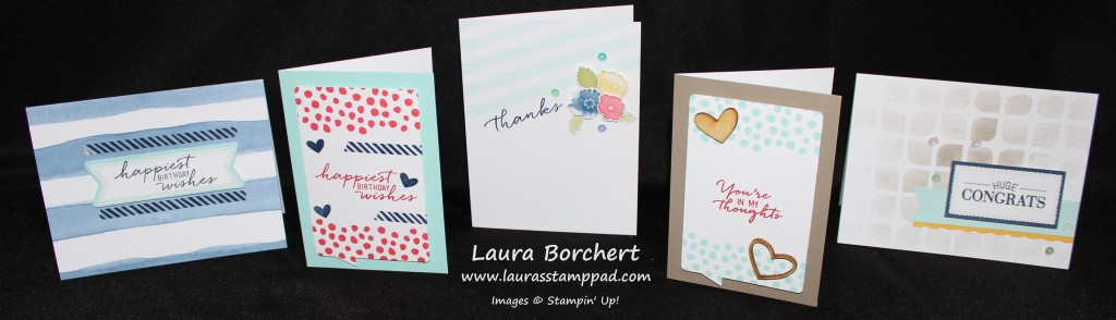 Watercolor Cards, www.LaurasStampPad.com