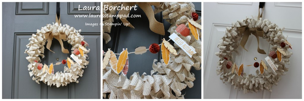 Thanksgiving Wreath, www.LaurasStampPad.com