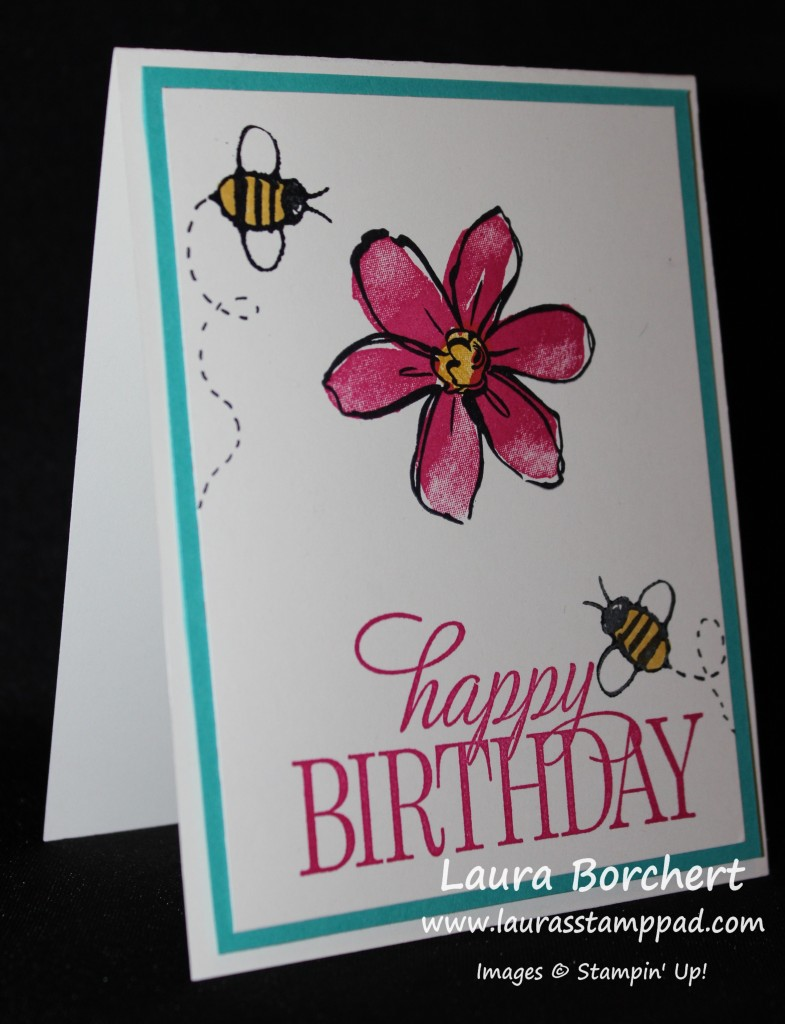 Bumble Bee Card, www.LaurasStampPad.com