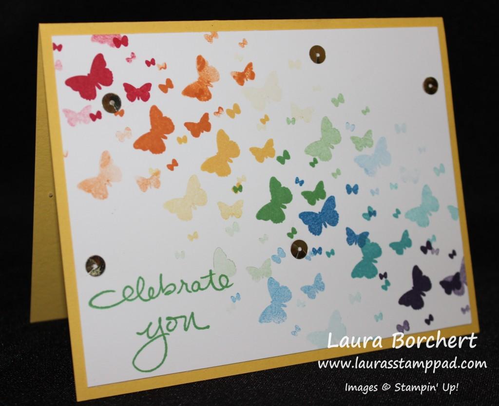 Rainbow Butterflies, www.LaurasStampPad.com