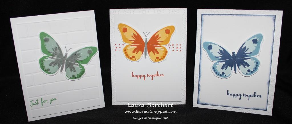 Butterfly Cards, www.LaurasStampPad.com