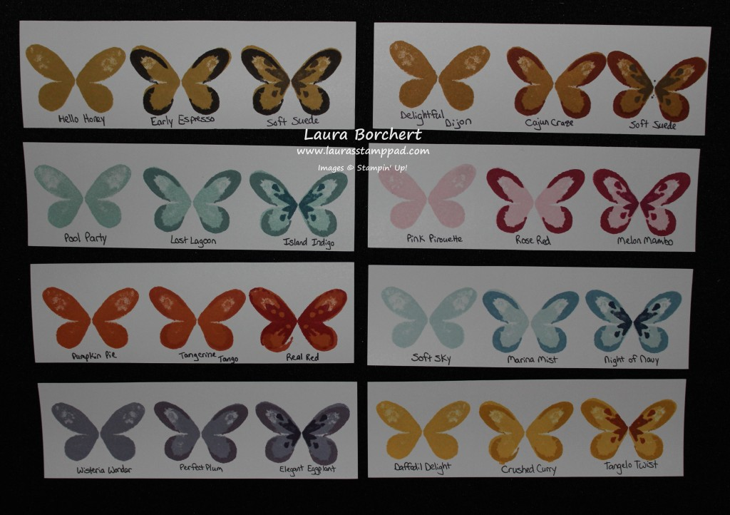 Butterfly Color Template, www.LaurasStampPad.com
