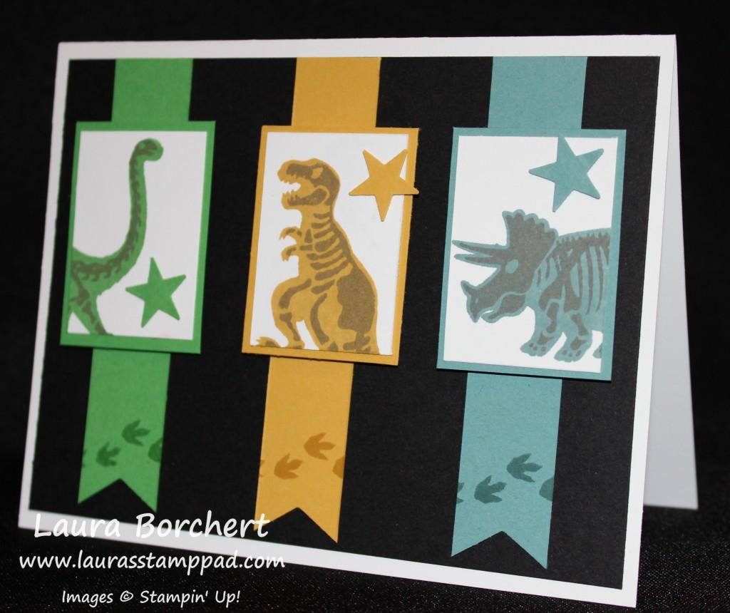 Dinosaur Kids Card, www.LaurasStampPad.com