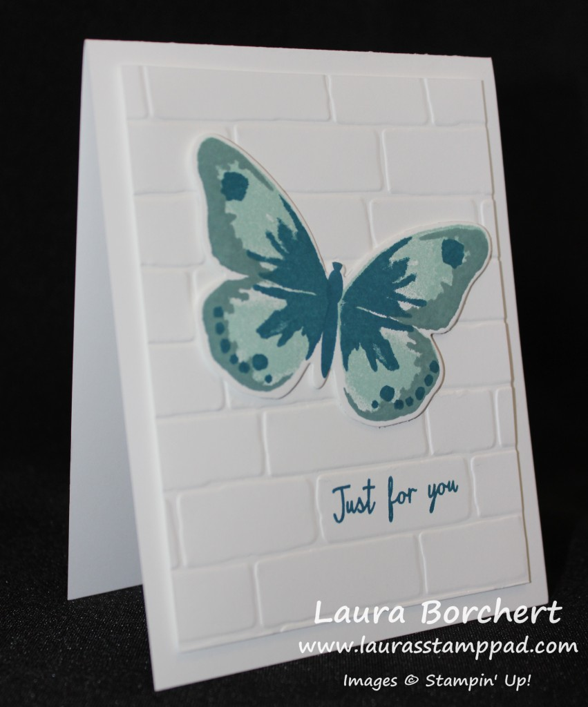 Butterfly on Bricks, www.LaurasStampPad.com