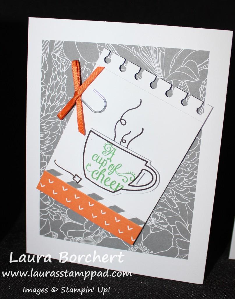 Tea Cup Card, www.LaurasStampPad.com