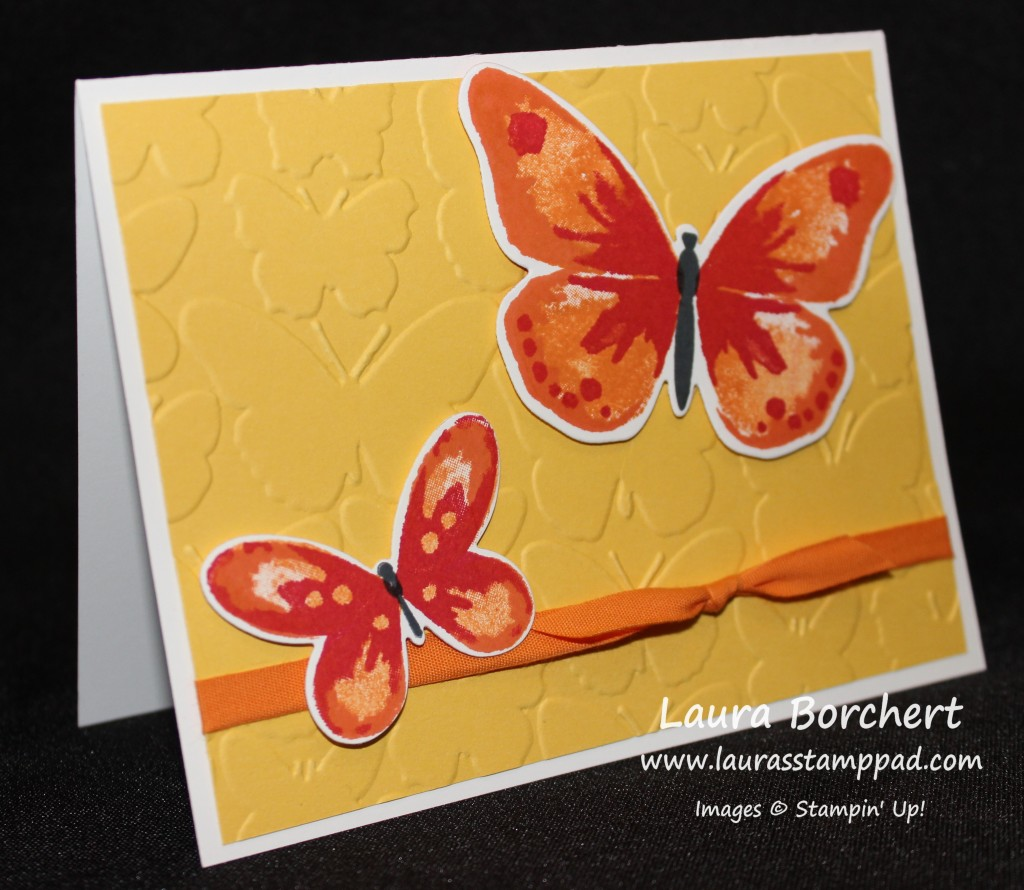Fluttering By, www.LaurasStampPad.com