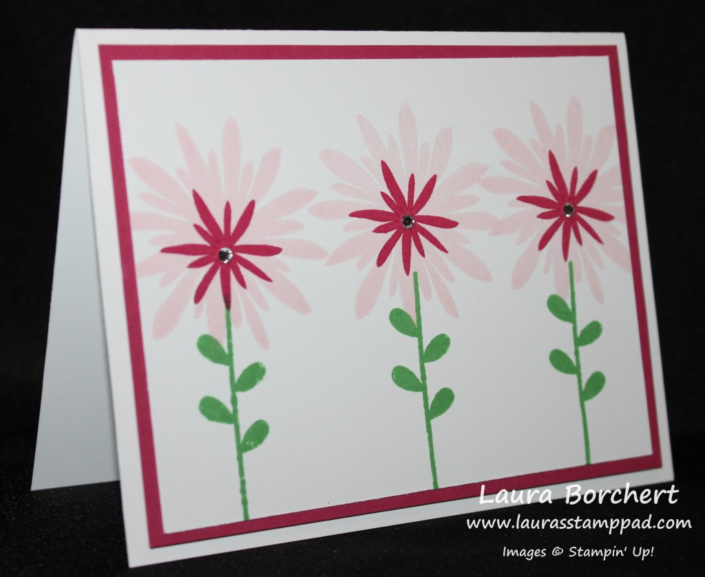 Simple Flower Card, www.LaurasStampPad.com