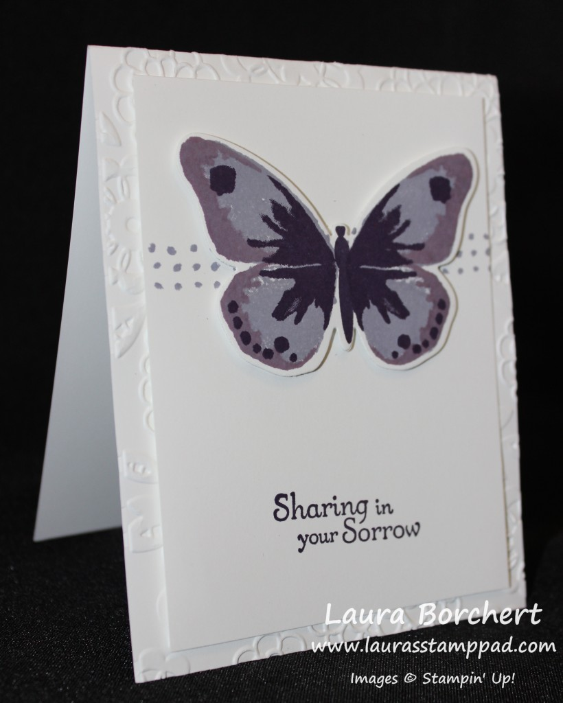 Purple Butterfly, www.LaurasStampPad.com