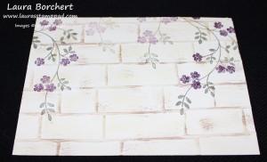 Reverse Brick Wall, www.LaurasStampPad.com