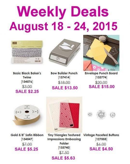 Weekly Deals 8.18