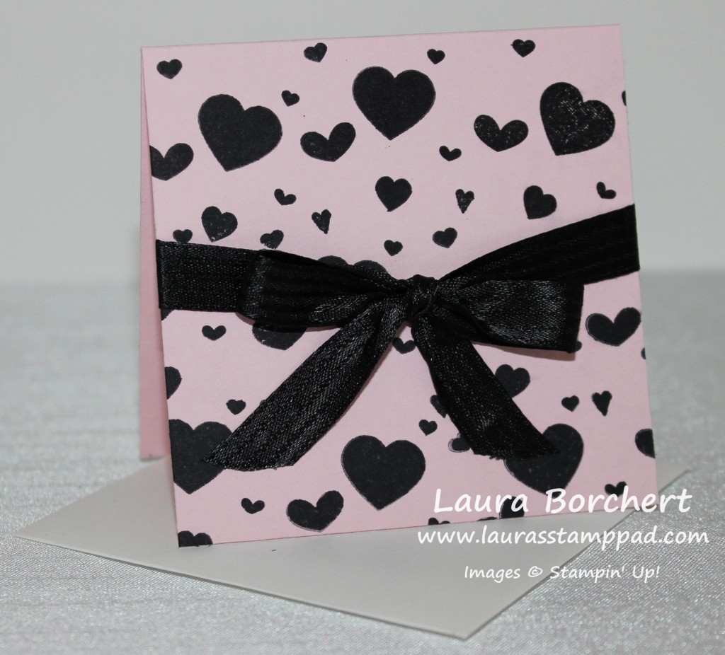 Light Pink with Black Hearts, www.LaurasStampPad.com