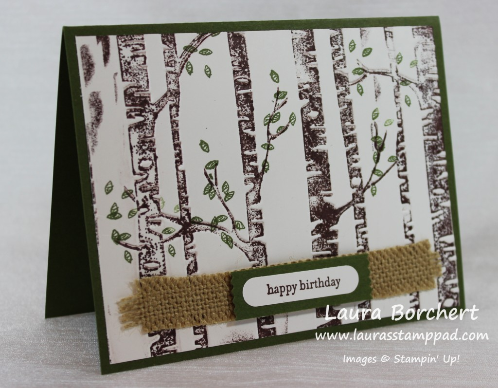 Woodland Embossing Folder, www.LaurasStampPad.com