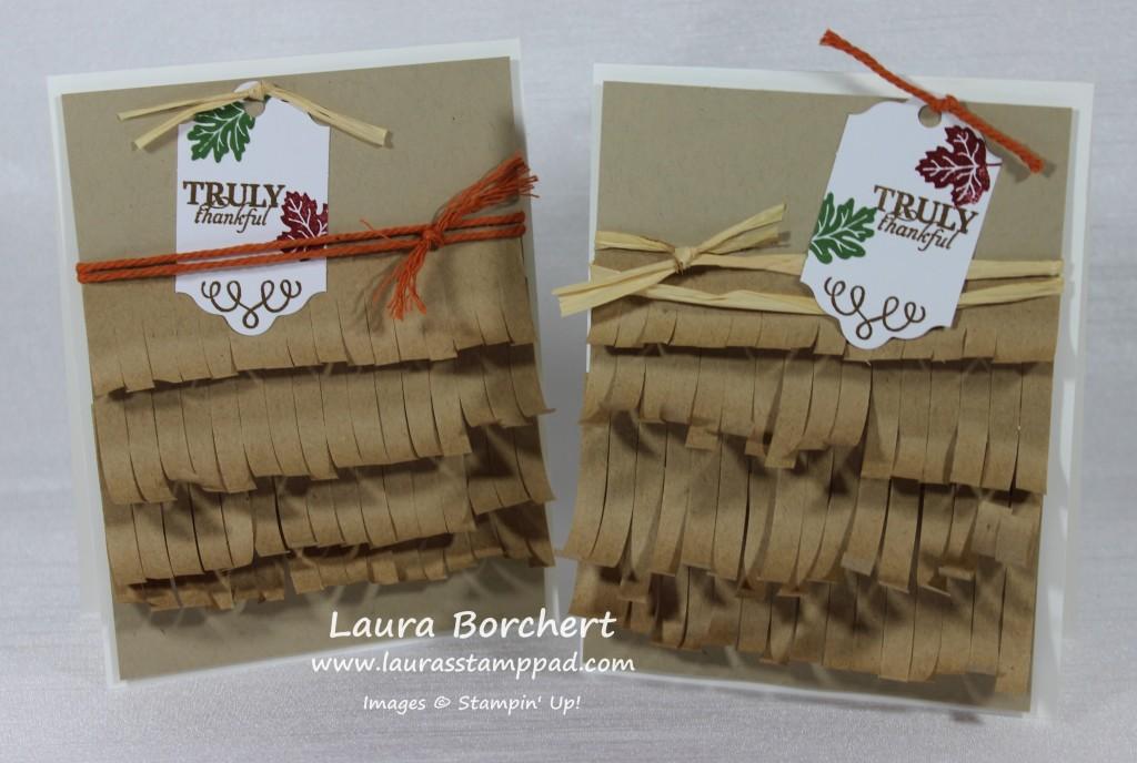 Fringe Cards, www.LaurasStampPad.com