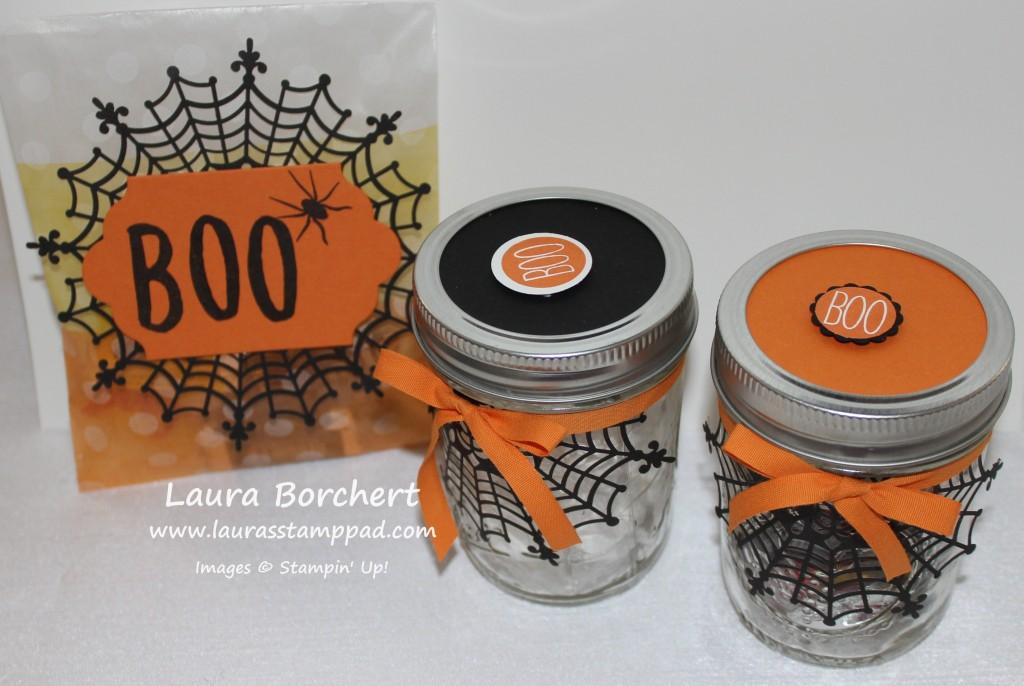 Halloween Spider Doily Treat Packaging, www.LaurasStampPad.com