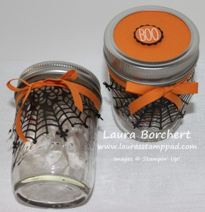 Spider Web Treat Jars, www.LaurasStampPad.com