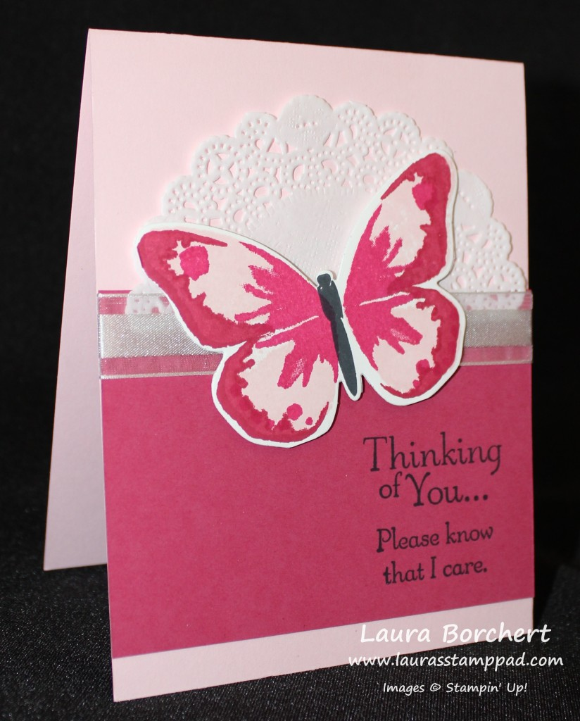 Pink Butterfly, www.LaurasStampPad.com