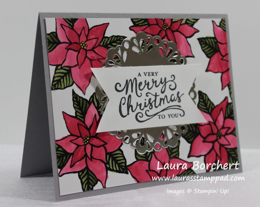 Poinsettia, www.LaurasStampPad.com