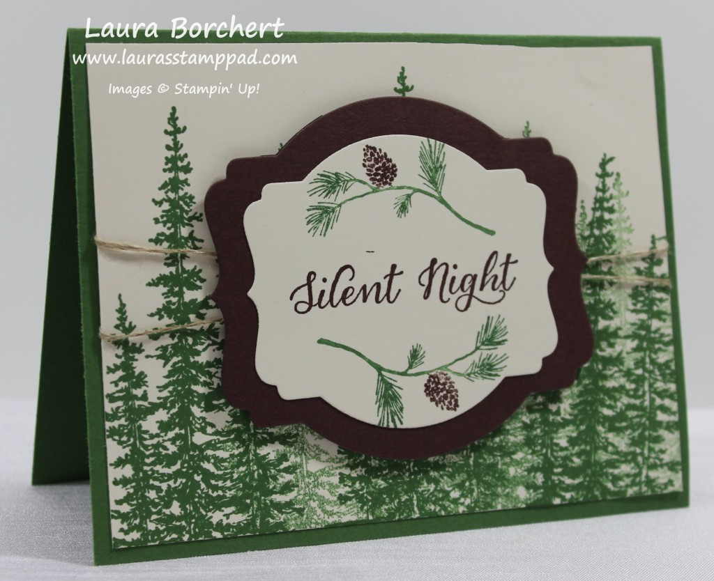 Silent Night Rustic Forest, www.LaurasStampPad.com