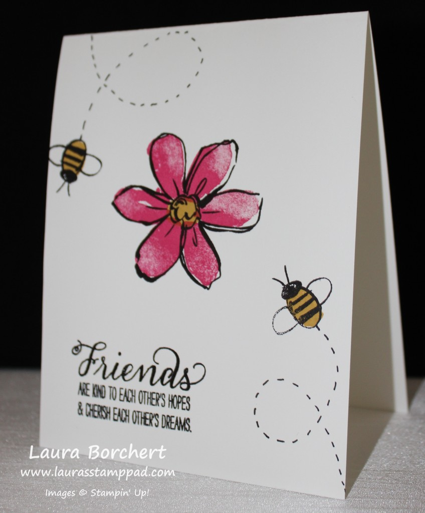 Bumble Bee Flower, www.LaurasStampPad.com