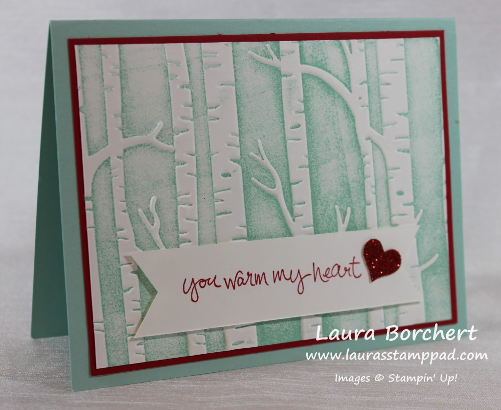 Snowy Trees, www.LaurasStampPad.com