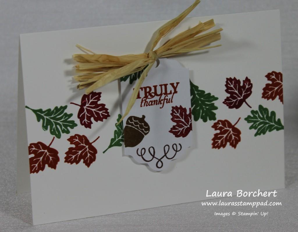 Truly Thankful Card, www.LaurasStampPad.com