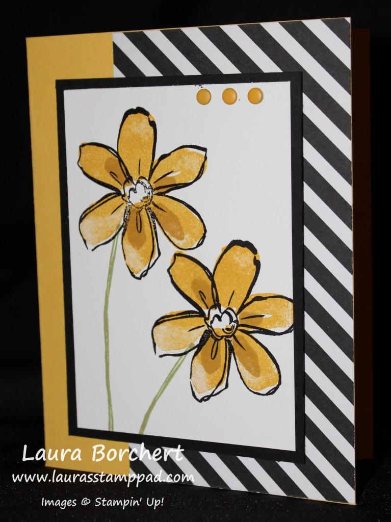 Yellow Flowers, www.LaurasStampPad.com