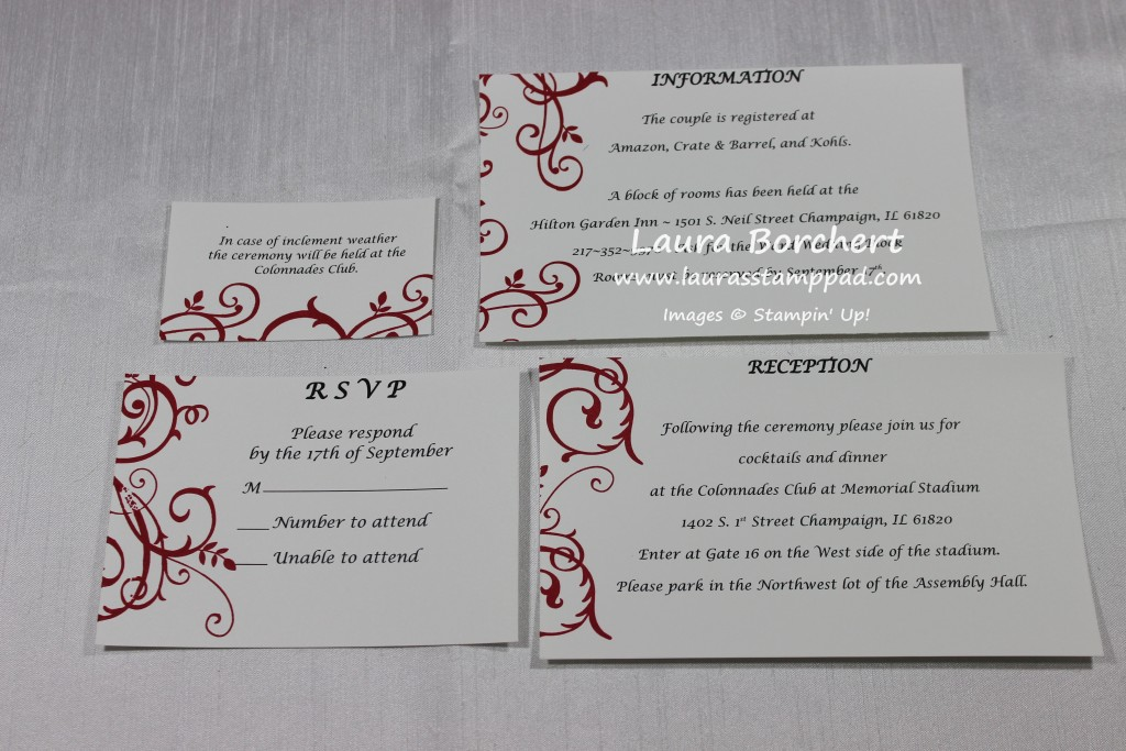 Pocket Cards for a Wedding Invite, www.LaurasStampPad.com
