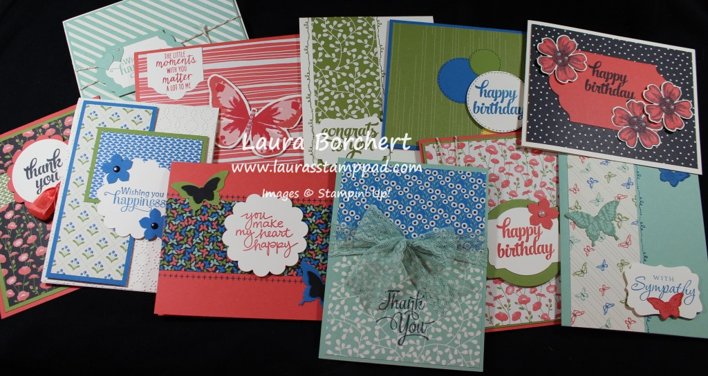 Pretty Petals Card Set, www.LaurasStampPad.com