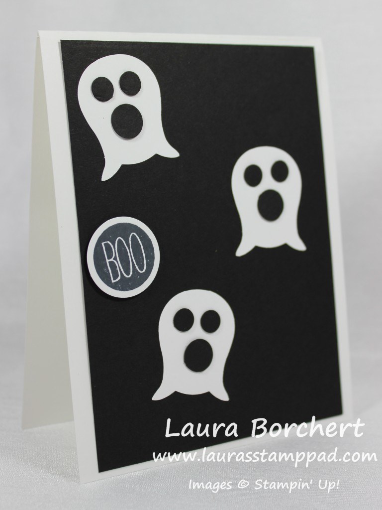 Boo Spooky Ghost, www.LaurasStampPad.com