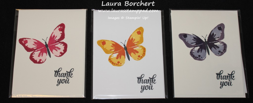Butterfly Thank You, www.LaurasStampPad.com