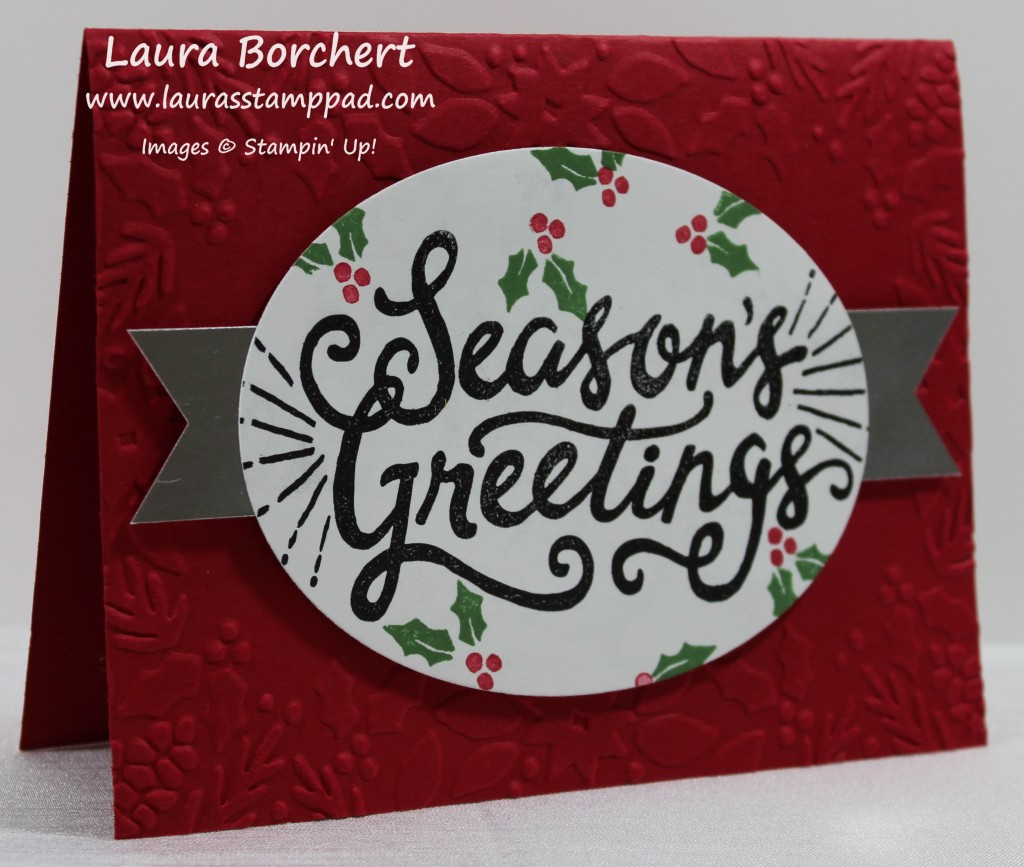 Embossed Border, www.LaurasStampPad.com