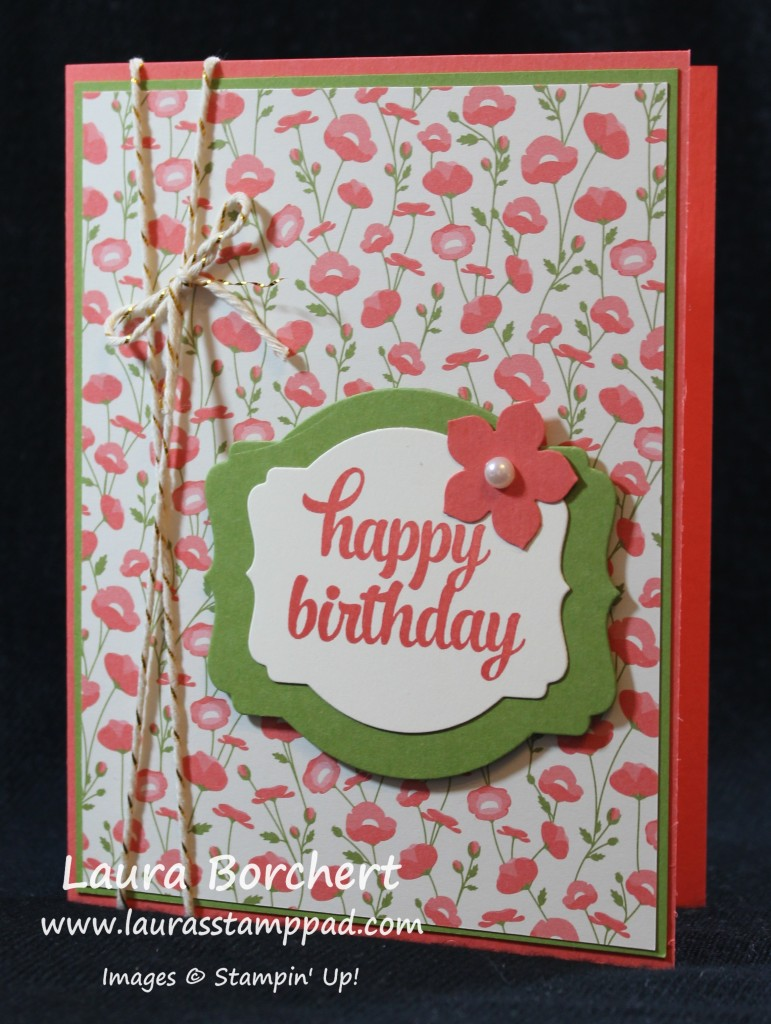 Coral Flowers, www.LaurasStampPad.com
