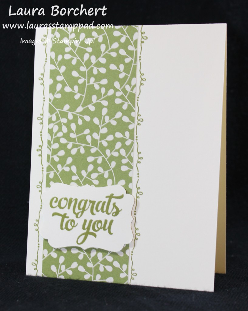 Quick Simple Card, www.LaurasStampPad.com