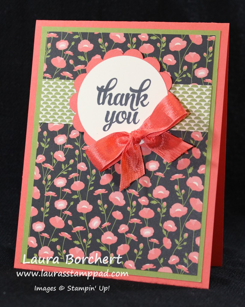 Pretty Petals Thank You Note, www.LaurasStampPad.com