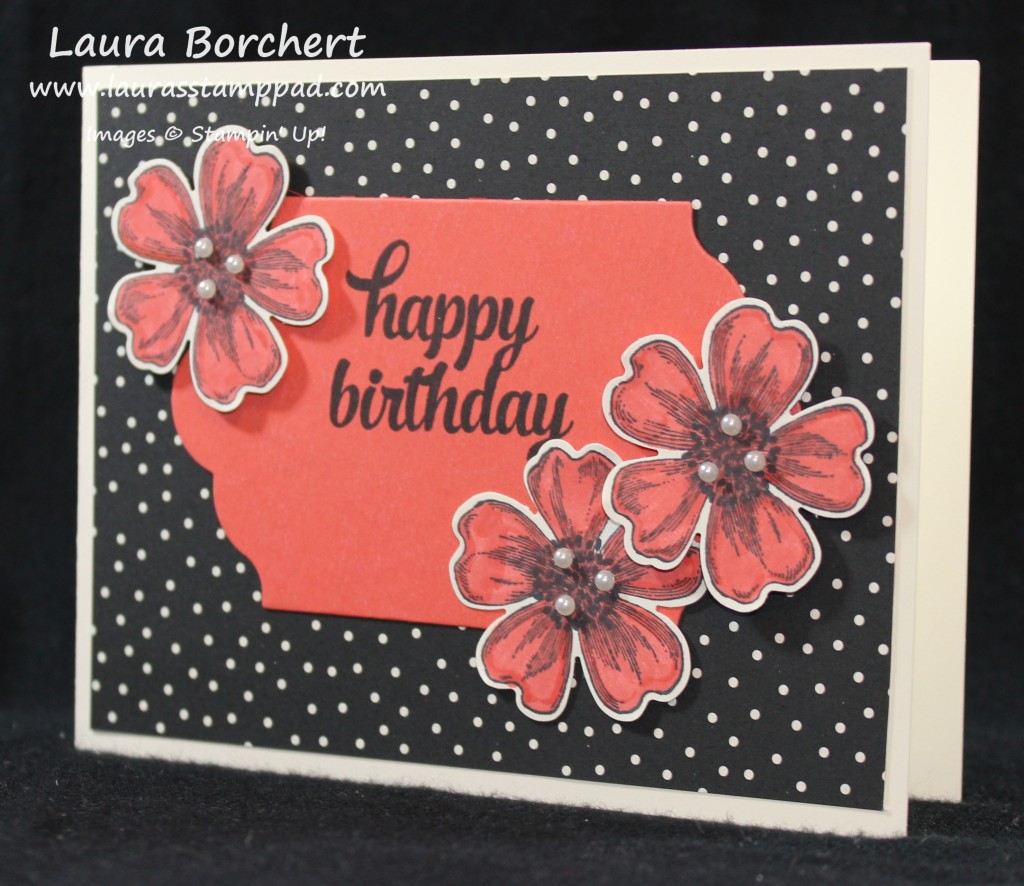 Polka Dots and Flowers, www.LaurasStampPad.com