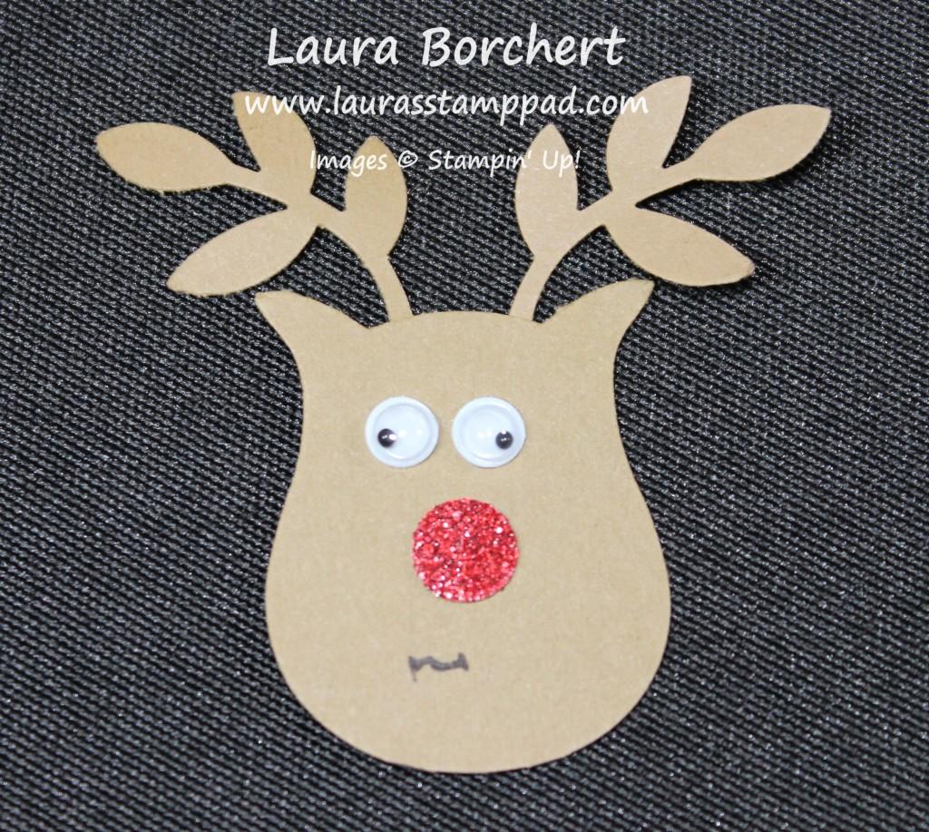 Reindeer Punch Art, www.LaurasStampPad.com