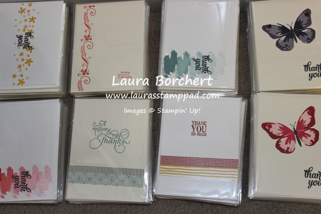 Thank You Cards, www.LaurasStampPad.com