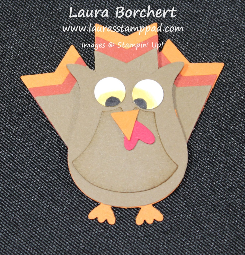 Turkey Punch Art, www.LaurasStampPad.com