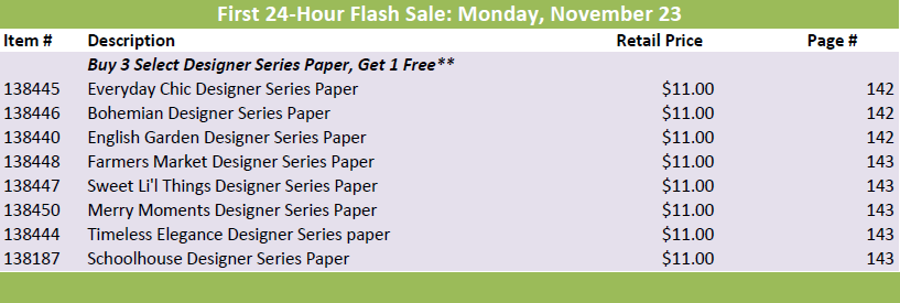 11.23 Flash Sale