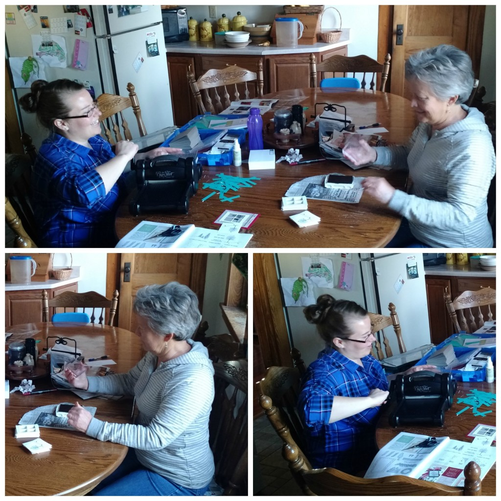 Stamping with my Mom, www.LaurasStampPad.com