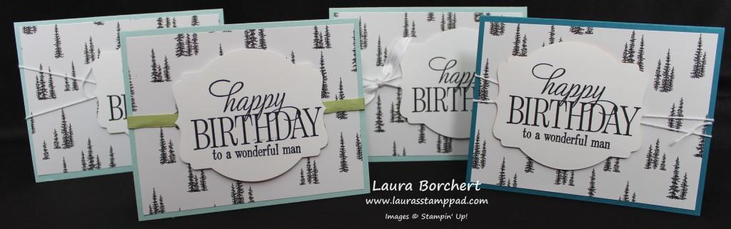 Birthday Trees, www.LaurasStampPad.com